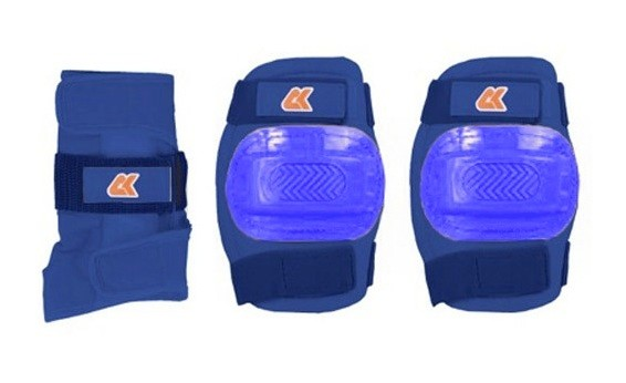 Транспорт для детей Аксессуары: Комплект защиты 3 в 1 JR Pad S (Синий)